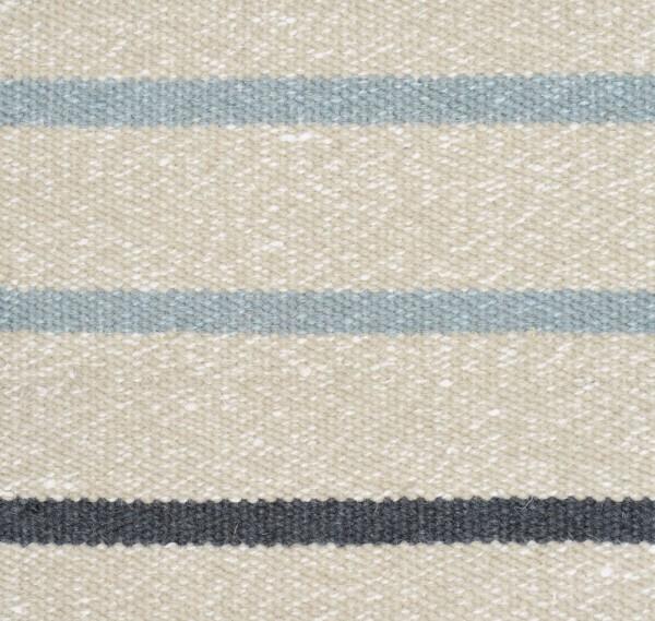 """Wollteppich """"Stripe"""" (hellblau-beige)"""