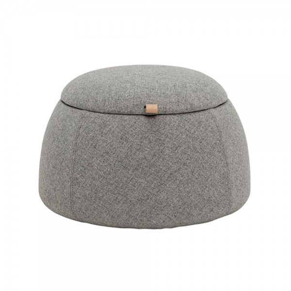 "Bloomingville Pouf ""Rock"" - in Grau"