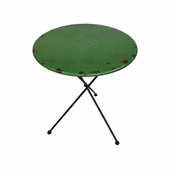 Runder Metalltisch Grün