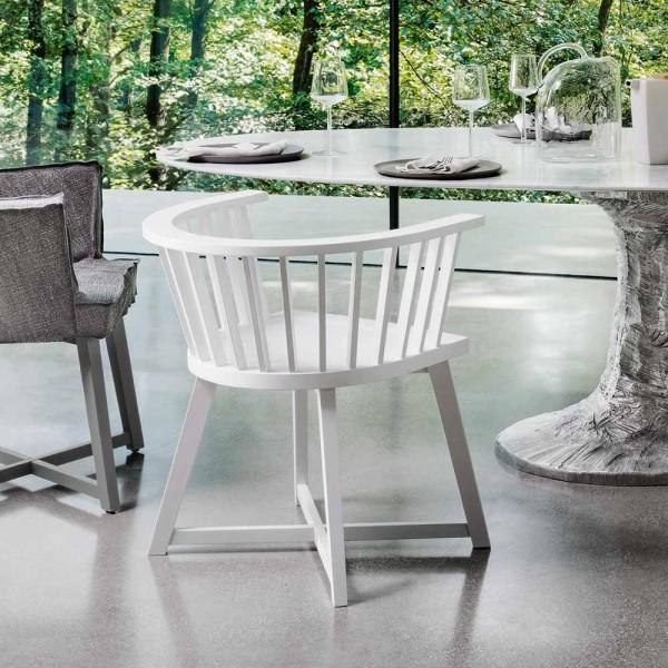 """GERVASONI Stuhl """"Gray 24"""" - in Weiß"""