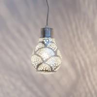 """Orientalische Lampe """"Pear"""" silber (verschiedene Größen)"""