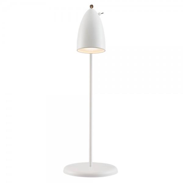 """Weiße Tischleuchte """"Nele"""" mit Kippschalter am Lampenschirm"""