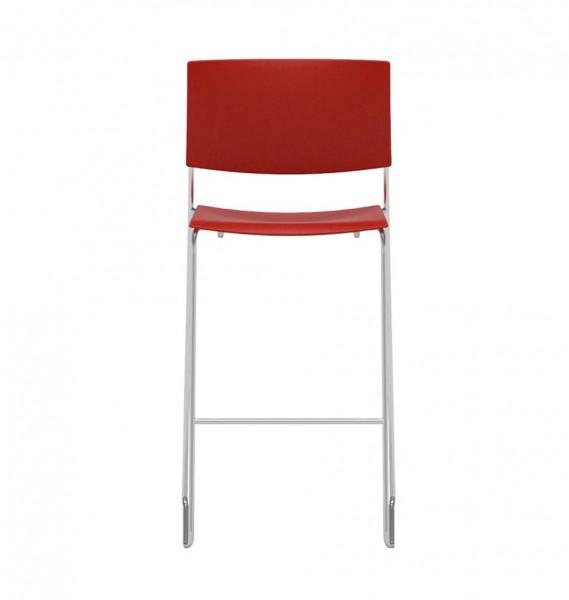 """Barhocker """"Sit"""" von Andreu World in wildem Rot"""