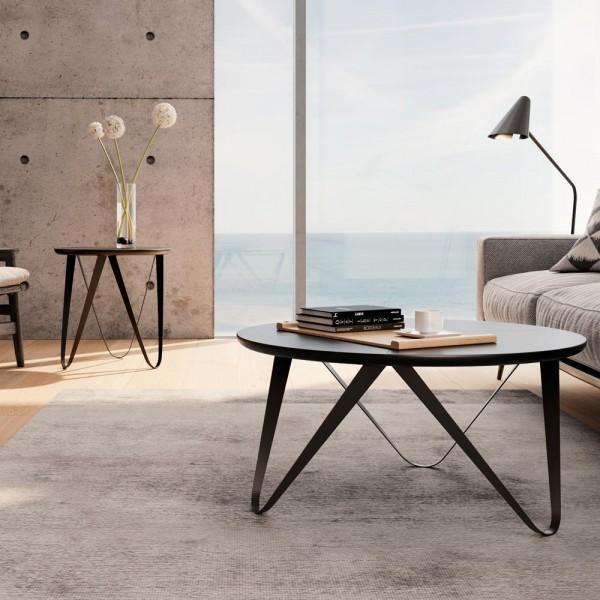 """Designertisch """"Chrana"""" aus Holz und Metall"""