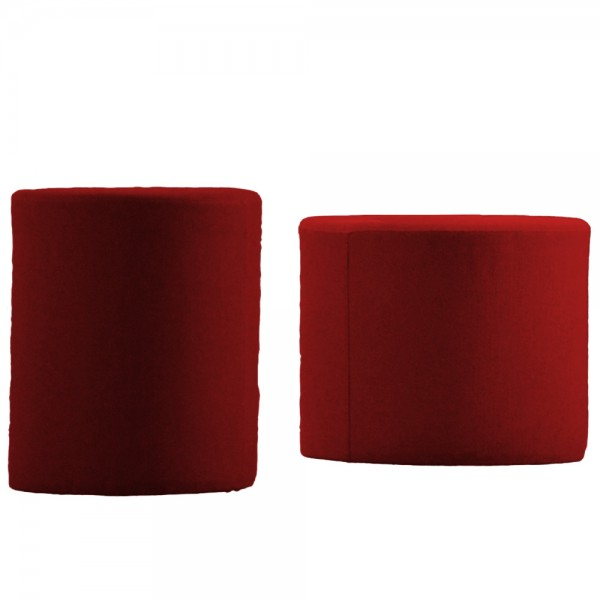 "Roter Pouf ""Rondo"" von jankurtz-Design"