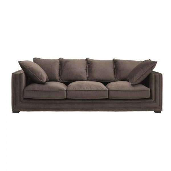 """Braunes Sofa """"Menorca"""" von Eichholtz"""