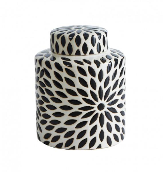 """Deckelvase """"Flower"""" Keramik Größe M"""