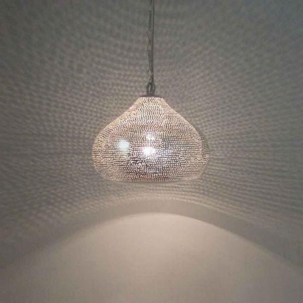 Orientalische h ngeleuchte in silber for Orientalische lampe silber