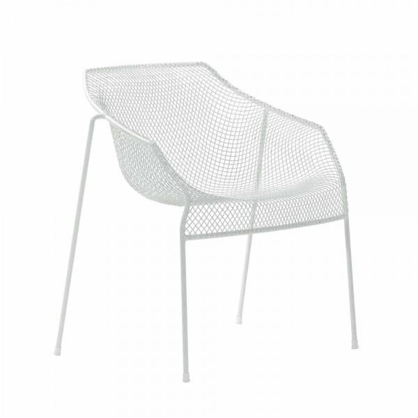 """Armlehnstuhl """"Heaven"""" von EMU - aus weißem Stahl"""