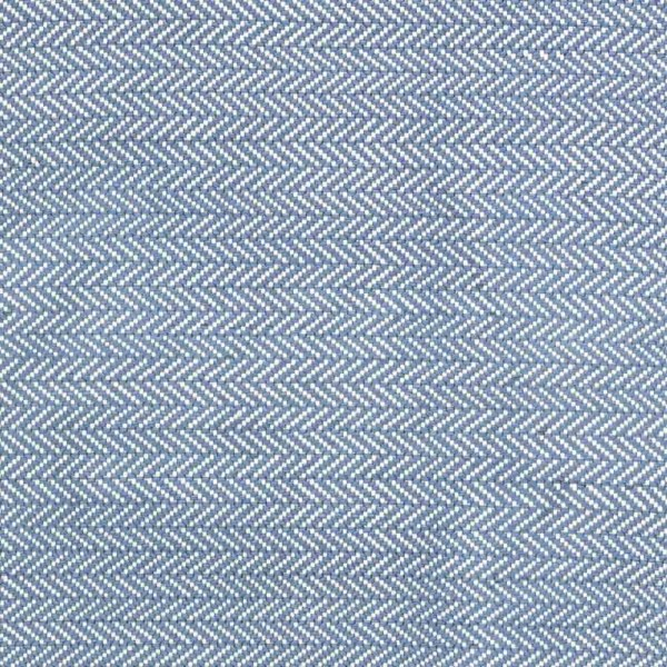 "Dash & Albert Outdoor-Teppich ""Herringbone"" - in Blau"