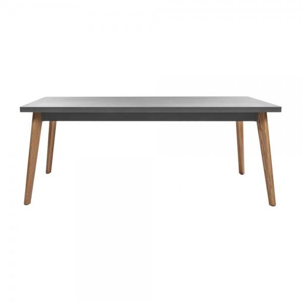 """Tolix Tisch """"Table 55"""" mit grauer Tischplatte aus Stahl"""