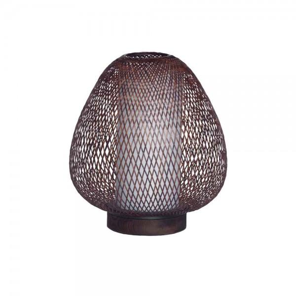 "Tischlampe ""Buhjah"" - aus braunem Bambus"