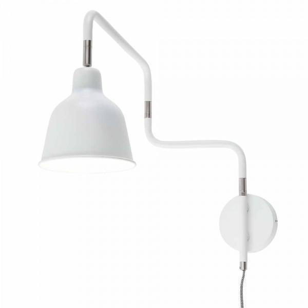 """Weiße Wandlampe """"Metro"""""""