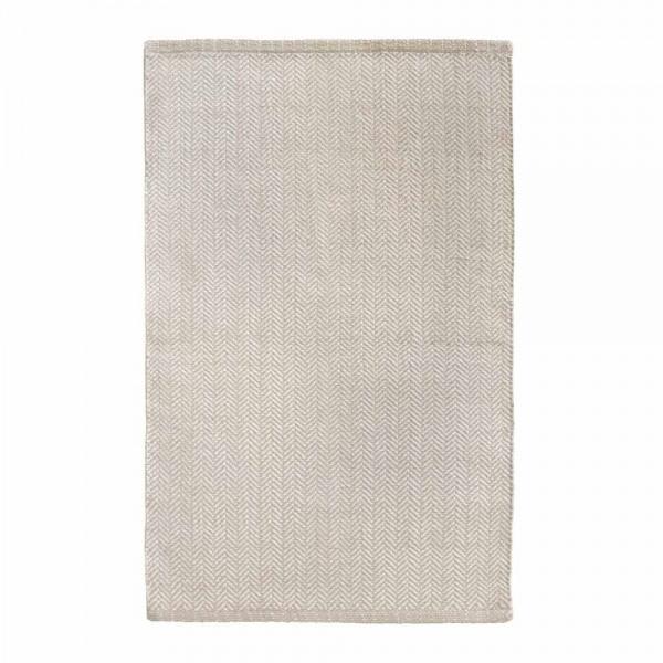 """Baumwollteppich """"Tara"""" in Sand-Weiß"""