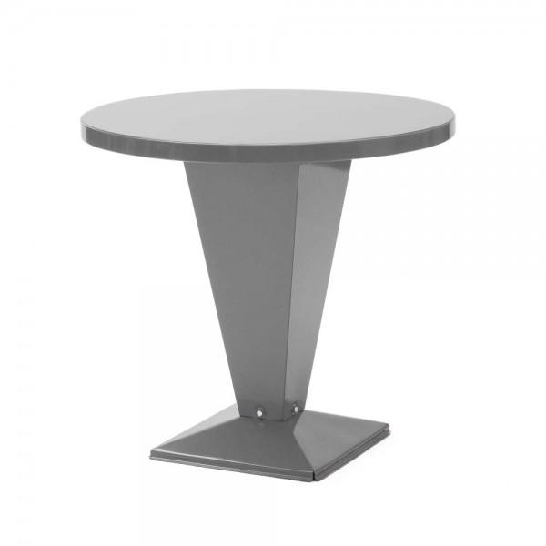 """Tolix Bistrotisch """"Table Kub"""" aus glänzendem, grauem Stahl"""