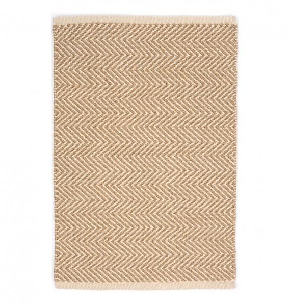 "Dash & Albert Outdoor-Teppich ""Arlington"" kamel-beige"