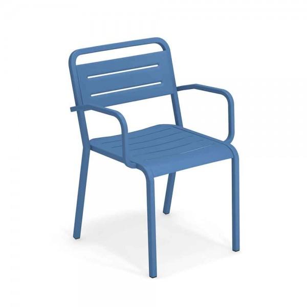 """Armlehnstuhl """"Urban"""" von EMU - in Blau"""