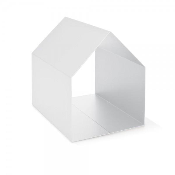"""Ablage """"Haus"""" - für Zeitschriften in Weiß"""