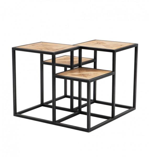 Tisch aus Holz und Metall - sehr modern und cool von EICHHOLTZ