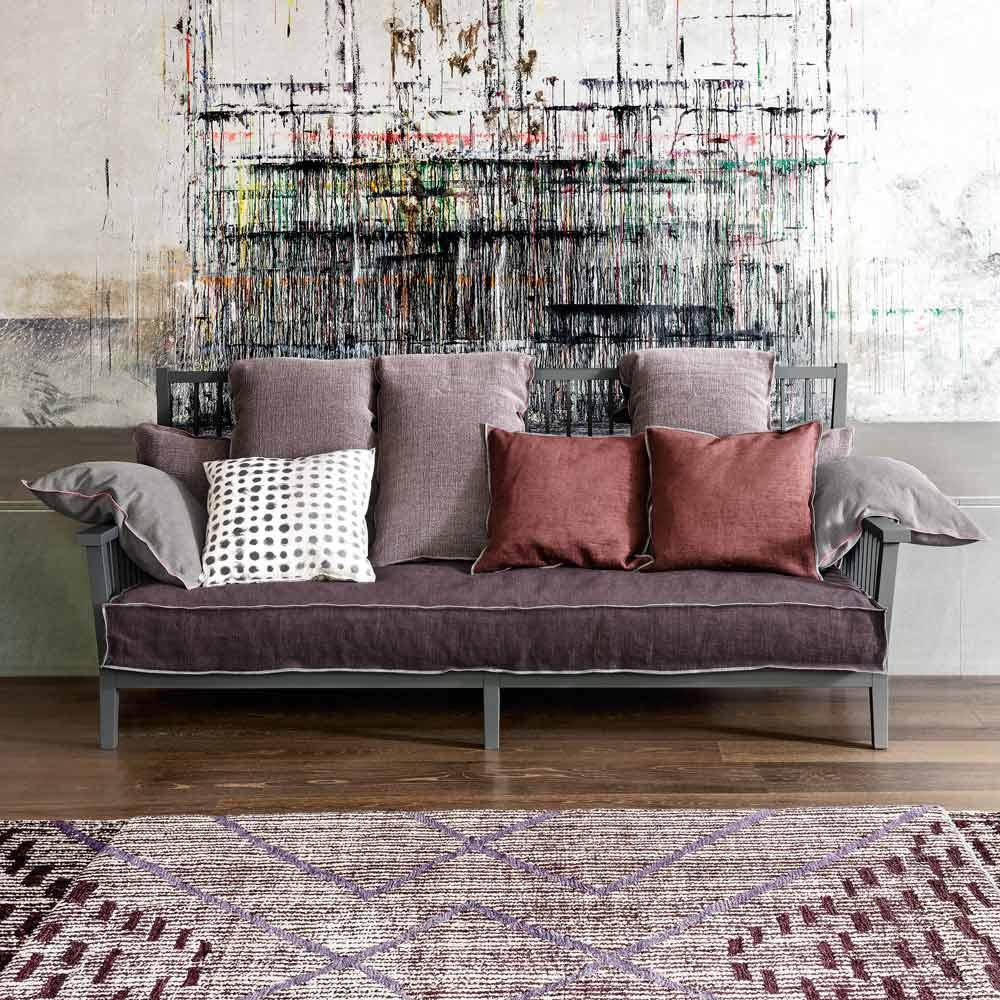 graues sofa aus holz. Black Bedroom Furniture Sets. Home Design Ideas