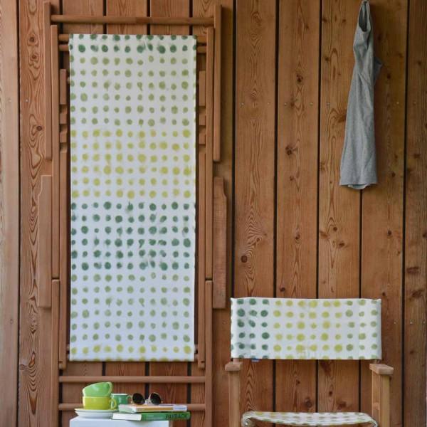 """Klappbare Garteniege """"Maxx Punkte"""" mit gelb-grünen Punkten"""