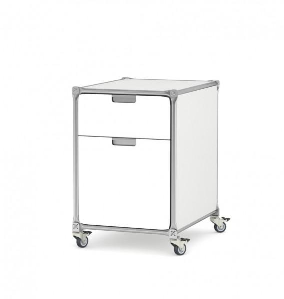 Weißer Rollcontainer - System 180-Design