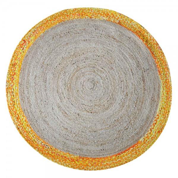 """Runder Teppich """"Cayan"""" - in Gelb-Orange"""