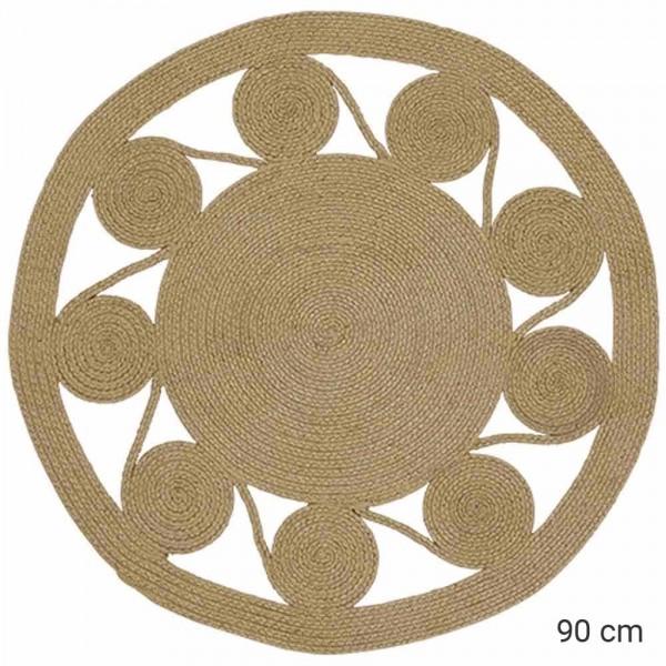 """Kleiner Outdoor-Teppich """"Mandala"""" in Natur"""