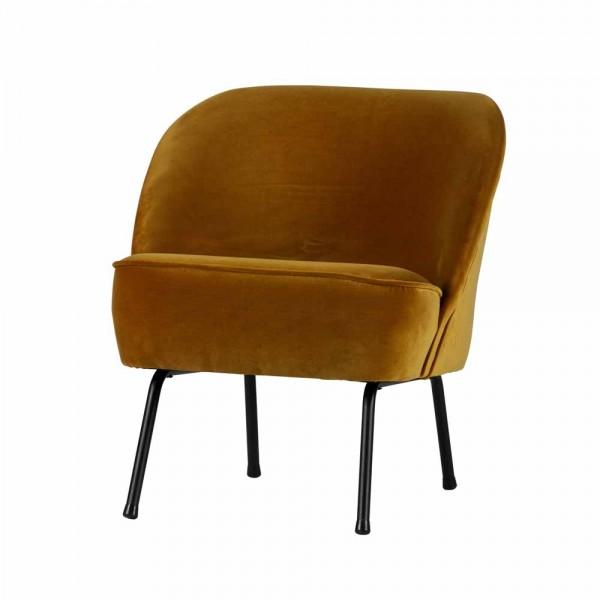 "Sessel ""Vero"" aus senfgelbem Samt"