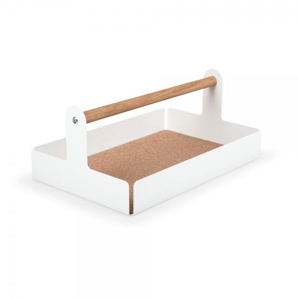 """Tischbox """"Office"""" - Ablagesystem in Weiß"""