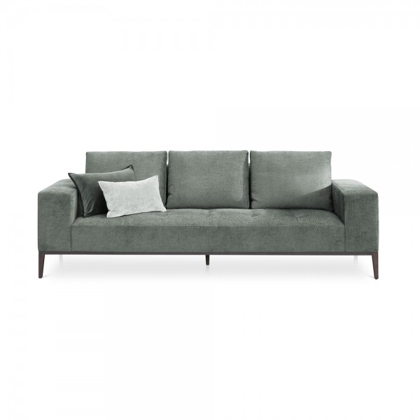 "Graues Samt-Sofa ""Michigan"""