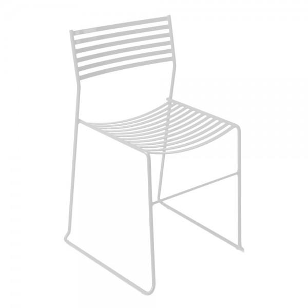 """Gartenstuhl """"Aero"""" aus weißem Stahl"""