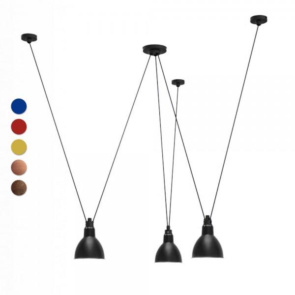 """DCW LAMPE GRAS Deckenleuchte """"N°325"""" aus Metall - mit 3 Schirmen"""