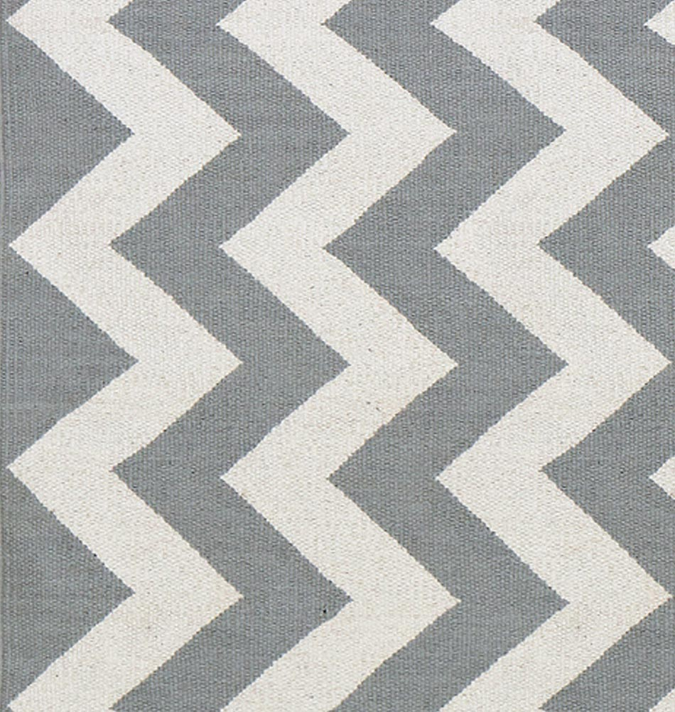 Teppich hellgrau weiss  Nordisches Design von liv interior - Teppich aus Baumwolle online