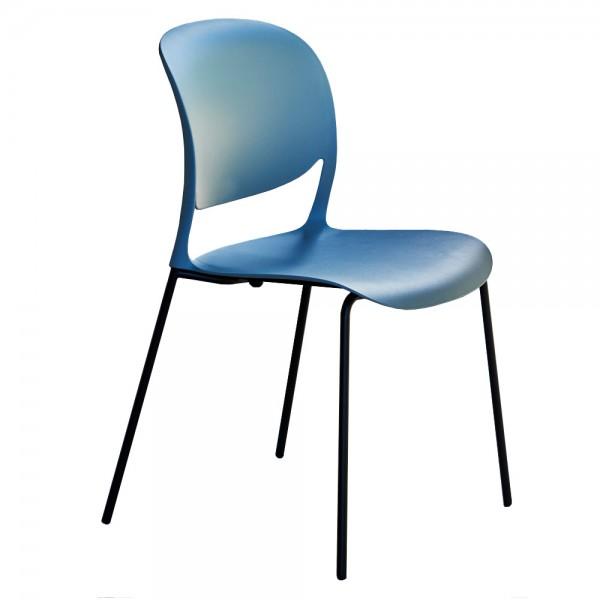 """Blauer Designerstuhl """"Smile"""" - stapelbarer Stuhl von jankurtz"""