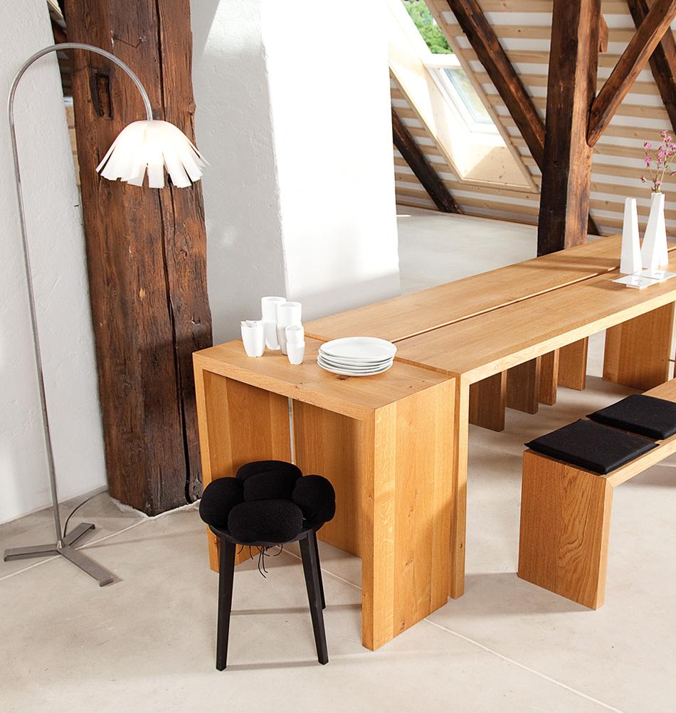 anrichte aus eiche massivholzm bel von raumgestalt. Black Bedroom Furniture Sets. Home Design Ideas
