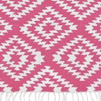"""liv interior Baumwollteppich """"Apache"""" (pink-weiß)"""
