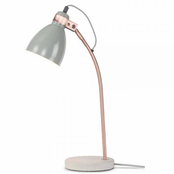 """Graue Tischlampe """"Dona"""" - aus Metall und Beton"""