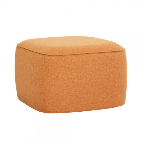 "Hocker ""Greta"" in Orange von Hübsch interior"