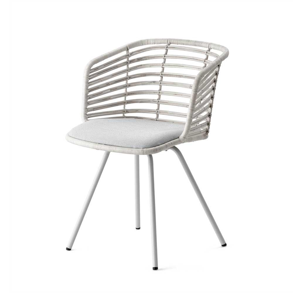 cane line stuhl spin aus wei em rattan. Black Bedroom Furniture Sets. Home Design Ideas