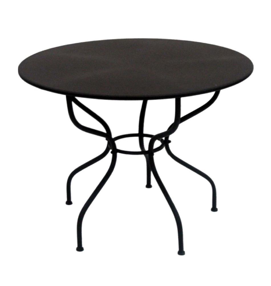 Runder eisentisch eisen tisch im landhausstil - Gartentisch rund metall ...