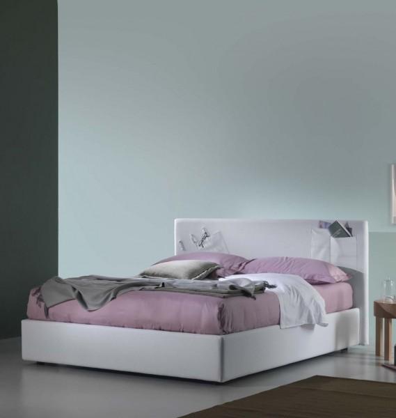 Designerbett Henner in Weiß