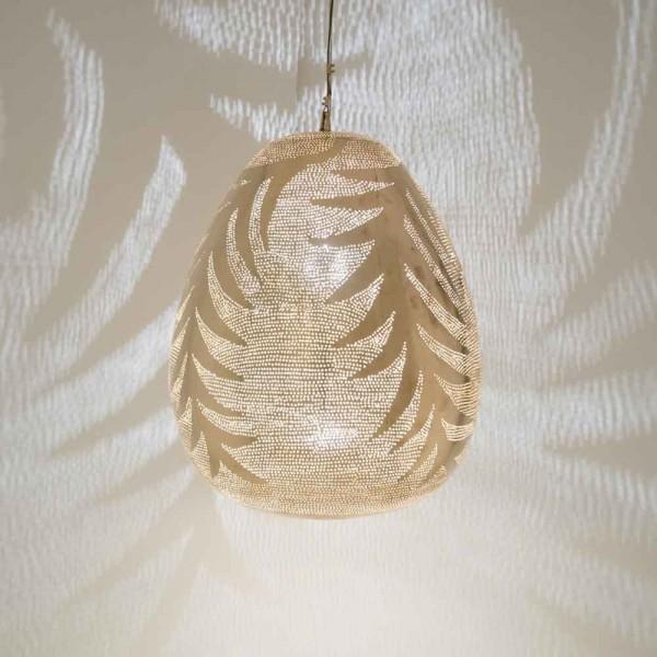 "Orientalische Lampe ""Tahani"" aus goldenem Messing"