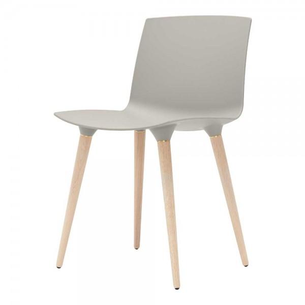 """""""The Andersen Chair"""" - Esszimmerstuhl in Grau, Beine in Natur"""