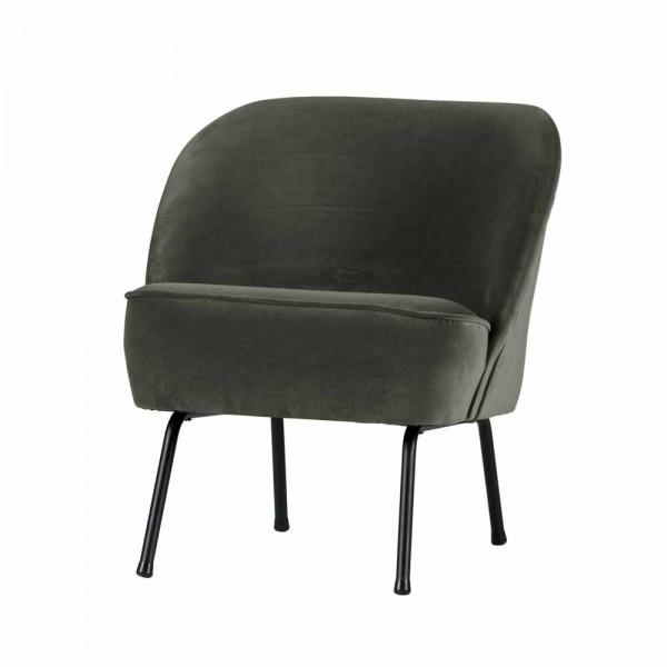"Sessel ""Vero"" aus dunkelgrünem Samt"