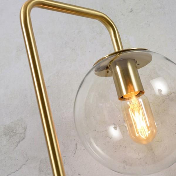 "Stehlampe ""Walda"" in Goldfarben"