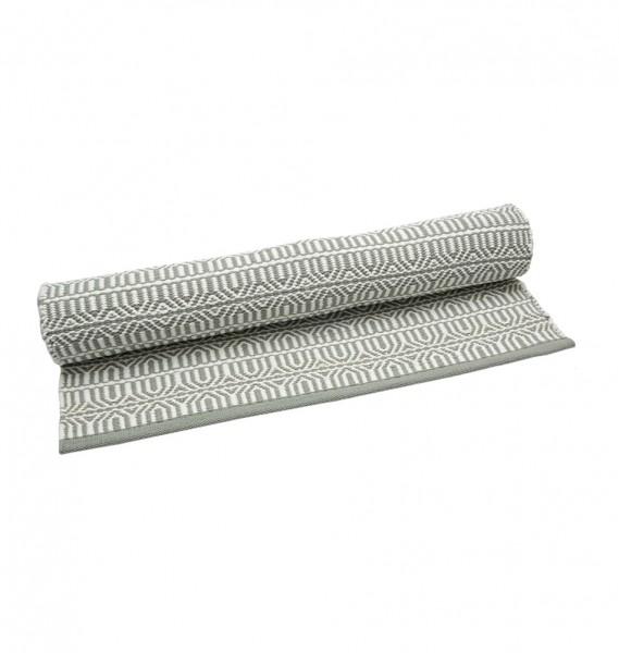"""Kunststoffteppich """"Brick"""" in Grau-Weiß"""