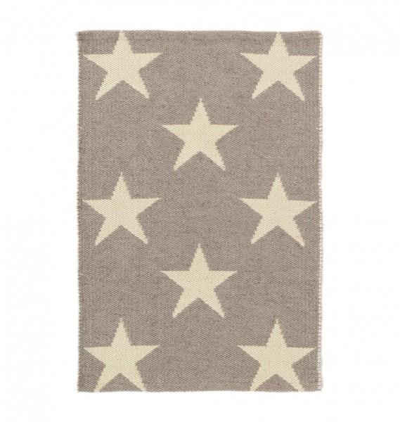 """Teppich """"Star"""" - Grau mit beigen Sternen"""