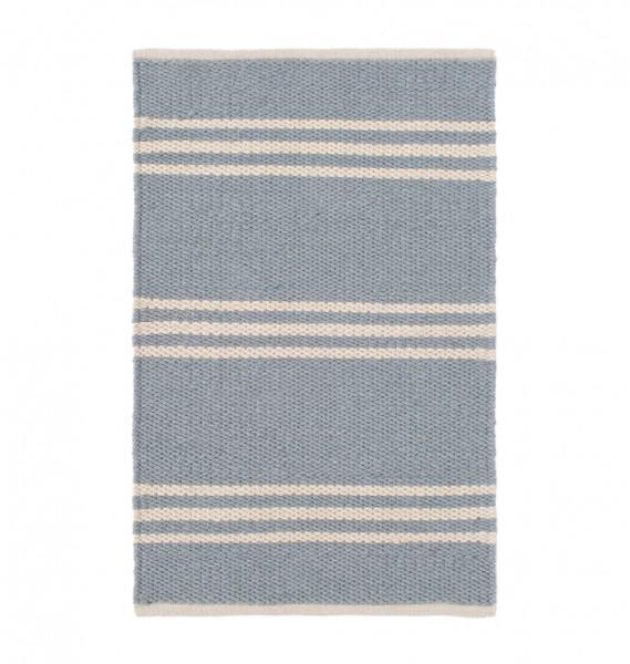 """Dash & Albert Outdoor-Teppich """"Lexington"""" hellblau-beige, für den Outdoorbereich"""