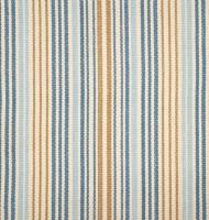 """Dash & Albert Baumwollteppich """"Stockholm"""" (blau-sand)"""